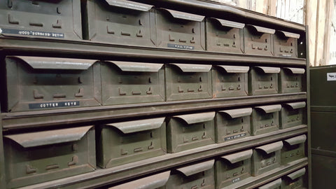 72 Drawer Green File Cabinet