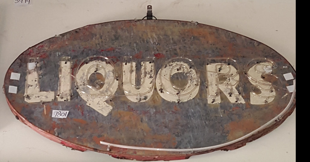 Metal Liquors Sign (Restaurant)