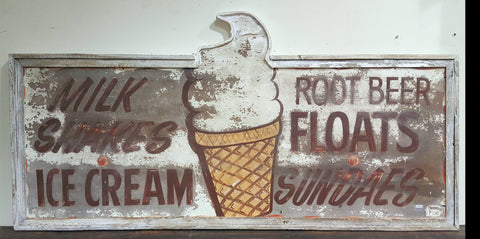 Ice Cream and Root Beer Floats Sign (Restaurant)