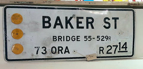 Baker St. Bridge Sign, Costa Mesa