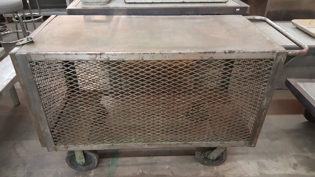 Industrial Mesh Cabinet on Wheels