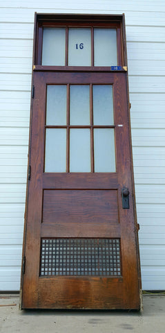 2 Panel 6 Lite Single School House Door with Transom