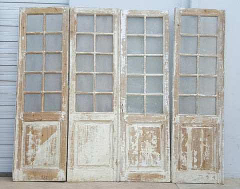 Set of 4, 10-Pane Doors