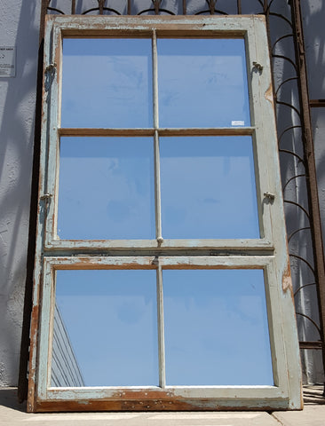 Large 6-Pane Wooden Mirror
