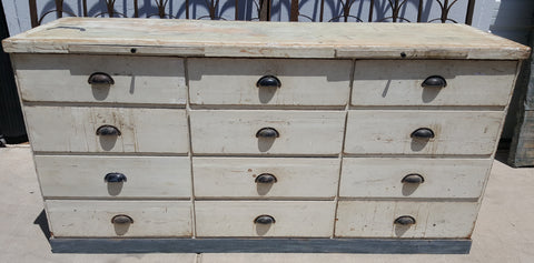 French White Bakery Cabinet