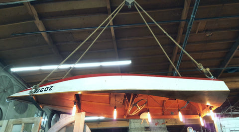 Repurposed Speed Boat Pendant Light