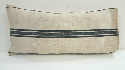French Grain Sacks/Pillow Cases with Black Stripes