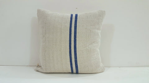 Pillow square with blue stripes