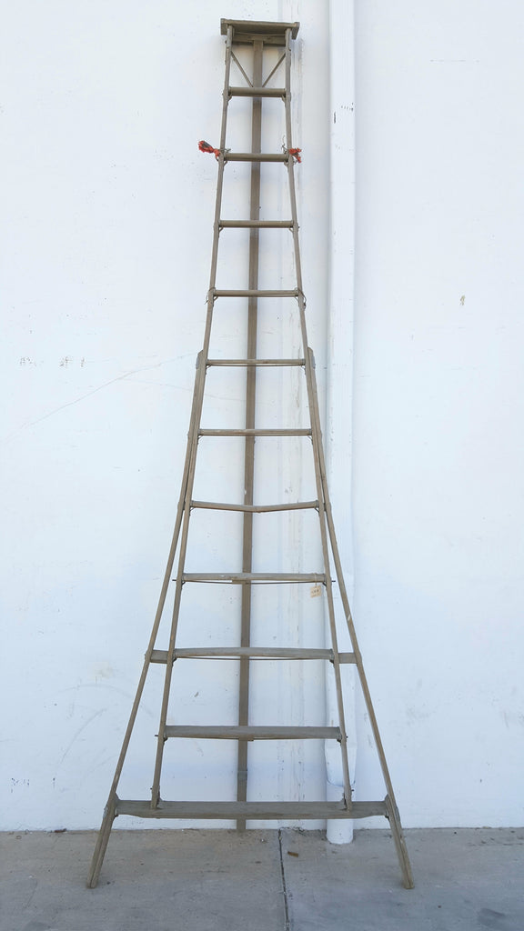 Tall Wooden Orchard Ladder