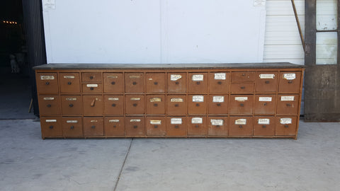 38 Drawer German Apothecary Counter/Cabinet