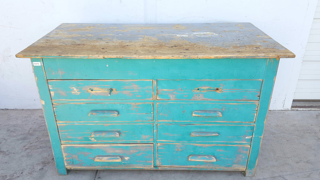 8 Drawer Aqua Bakery Cabinet