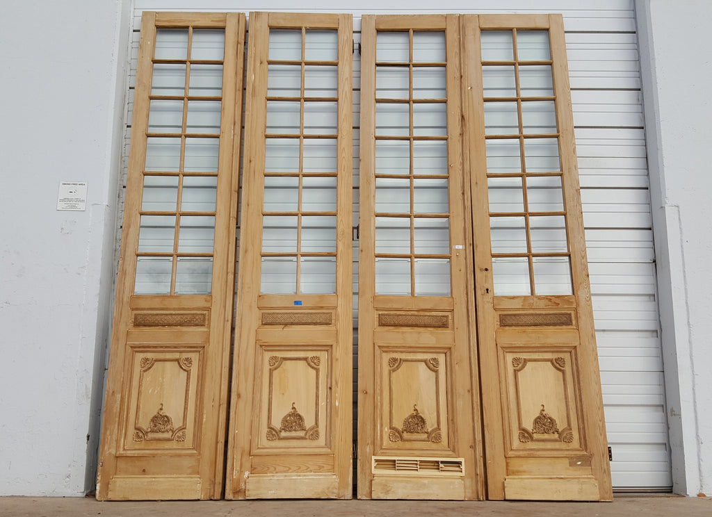 Set Of 4 French Doors With 14 Beveled Panes Antiquities Warehouse