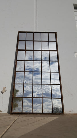35 Pane Iron Mirror