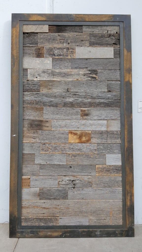 Reclaimed Tobacco Wood Single Sliding Barn Door