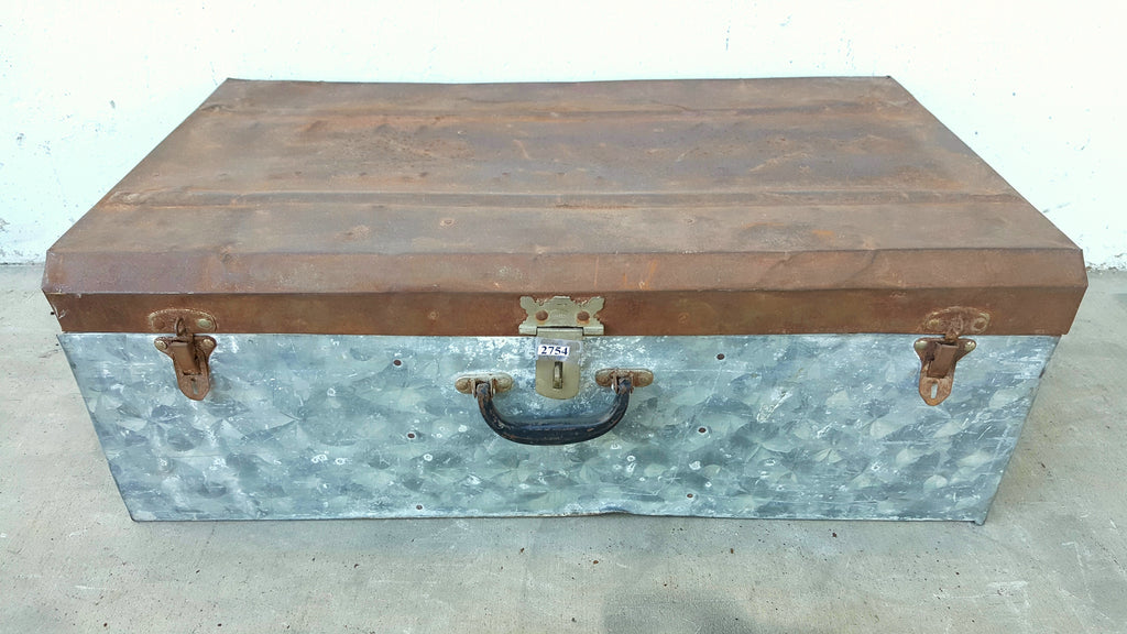 Small Galvanized Metal Trunk