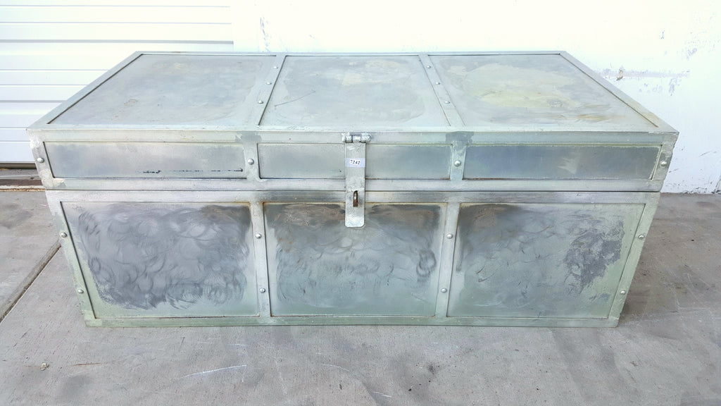 Large Stainless Steel Trunk