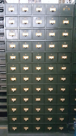60 Drawer Metal Shaw Walker Card Catlogue Cabinet