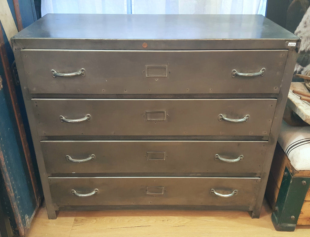 4 Drawer Metal Dresser