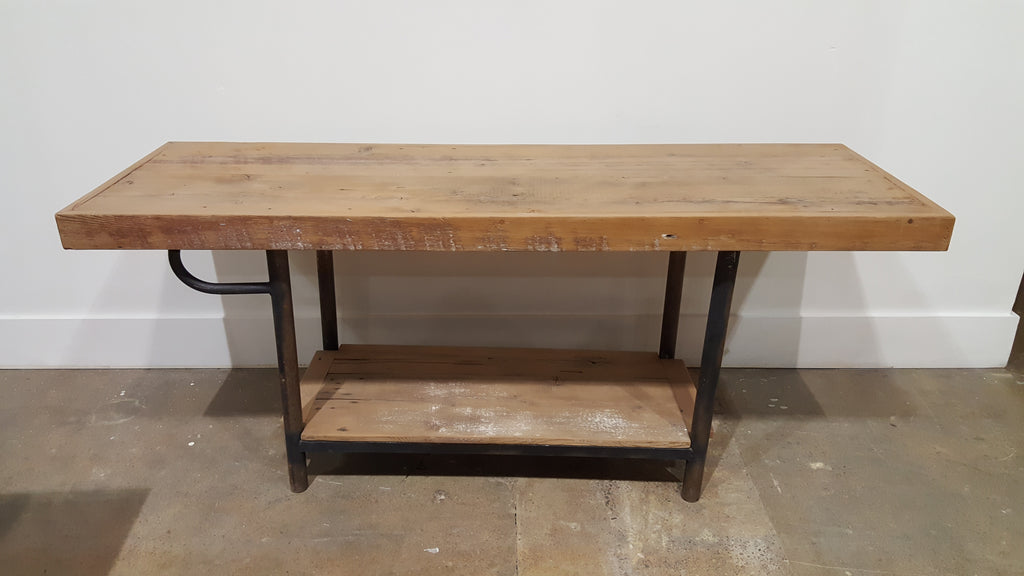 Natural Wood Island Work Table