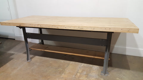 Reclaimed Bowling Alley Table