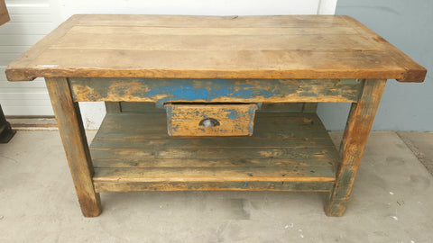 1 Drawer Painted Island Work Table
