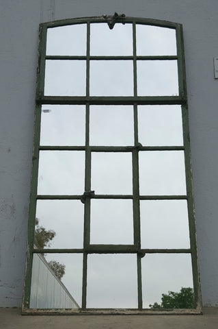 Large Iron Factory Window Mirror