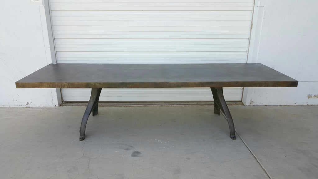 10 Foot Steel Top Table