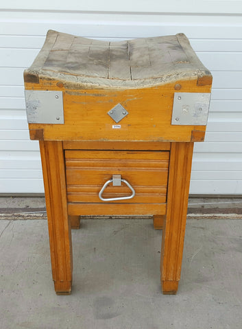 Butcher Block/Kitchen Island from Brussels, Belgium