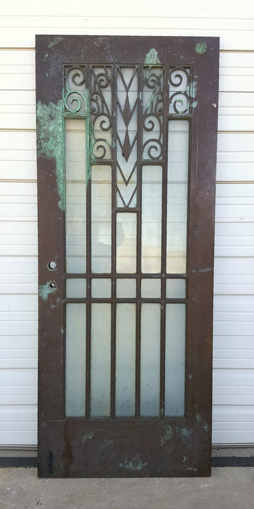 Bronze And Glass Art Deco Door Antiquities Warehouse