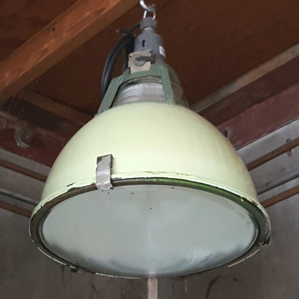 Industrial Mint Porcelain Pendant Factory Light