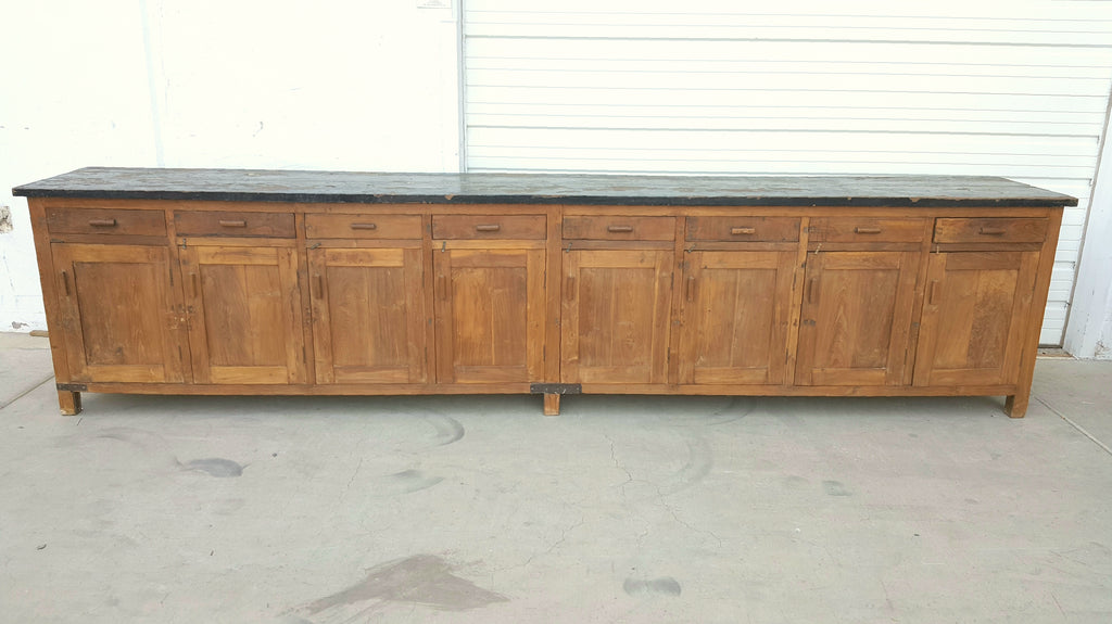 Long Wooden Sideboard with 8 Doors