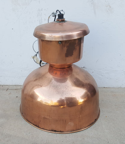 Copper Light with Capped Top, c.1930 Holland