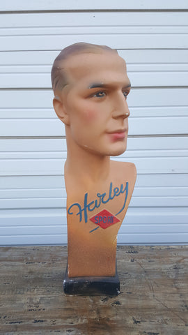 French Plaster Mannequin Head