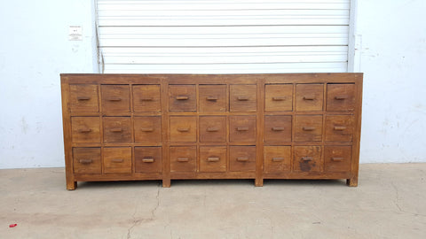 27 Drawer Wood Chest