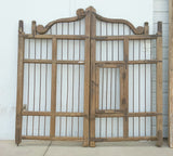 Wood and Iron Gate with Decorative Top