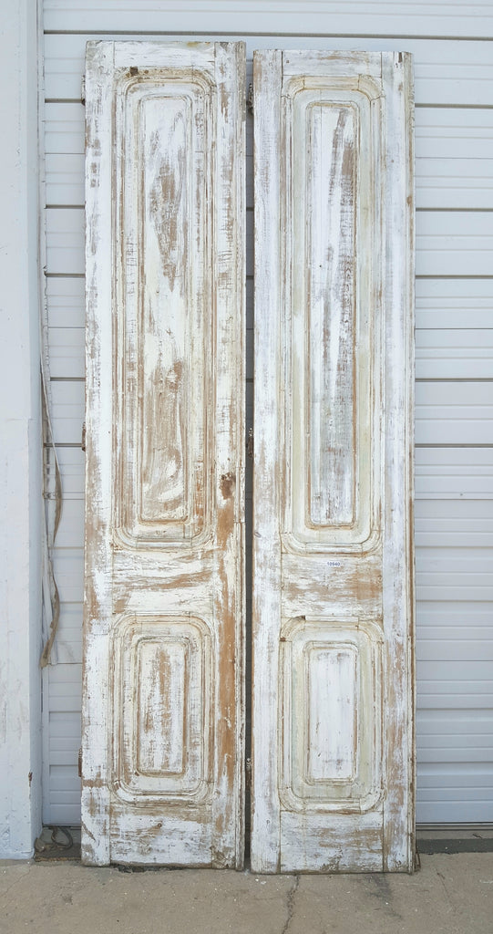 White Wash Wood 3 Panel Door