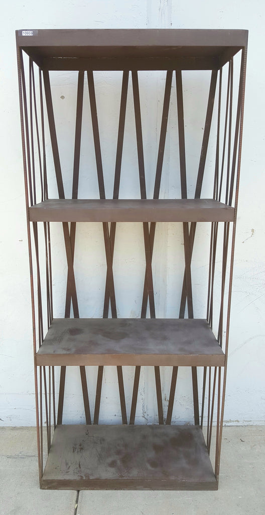 Iron and Rebar Bookcase