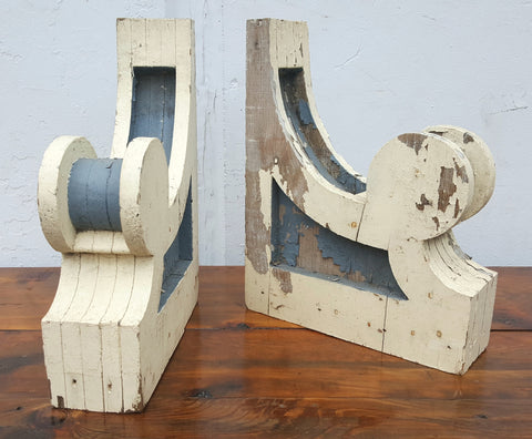 Pair of Gray and White Corbels