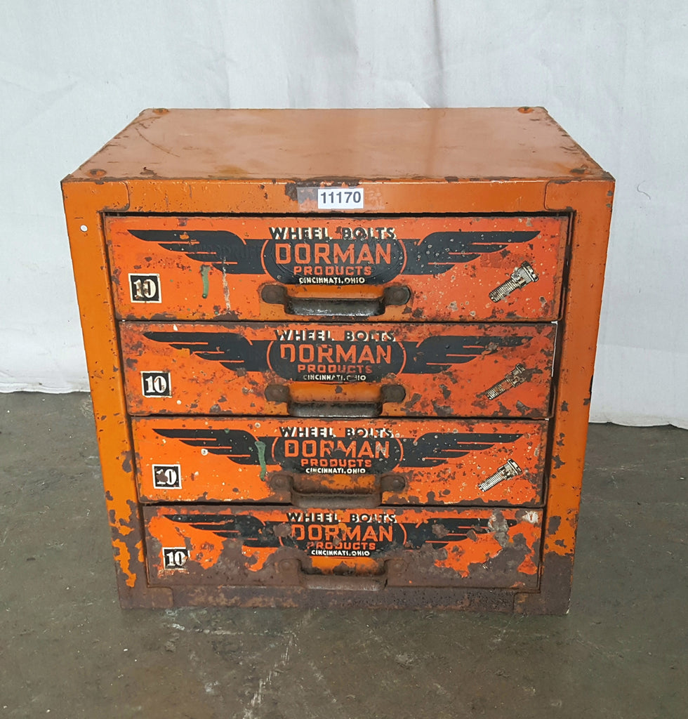 Orange Dorman Bolts Cabinet