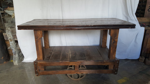 Factory Trolley Bar Table