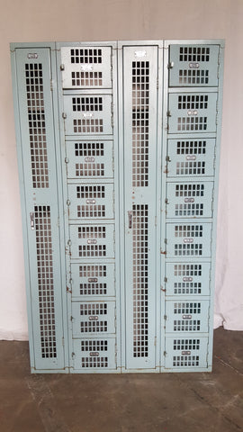 Set of 18 Blue Mesh Lockers