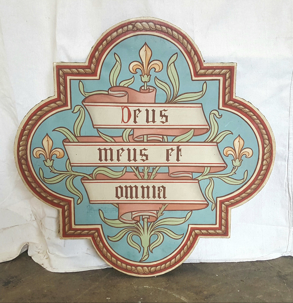 """Deus Meus et Omnia"" Sign (My God and My All)"