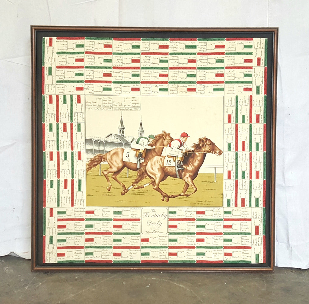 Framed Kentucky Derby Scarf (1962)