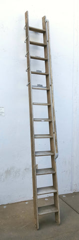 Gray Wood 12 Rung Ladder