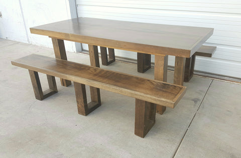 Farm Table and 2 Benches