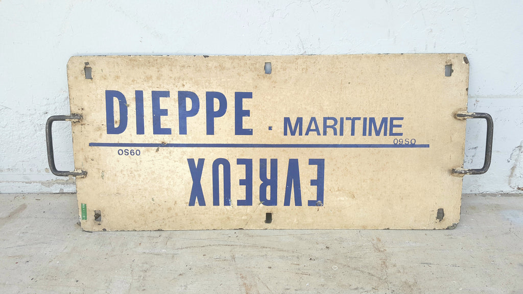 Double-sided Metal Blue and White French Maritime Sign