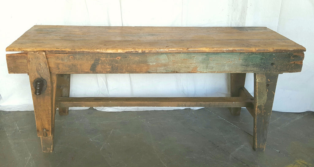Wood Work Table with Vise