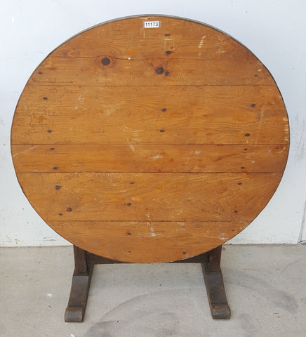 Round Wood Wine Table
