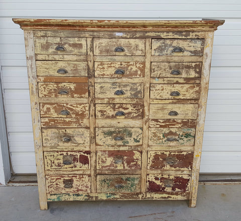 21 Drawer Painted Wood Dresser