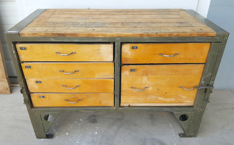 Antique French Industrial Sideboard c.1930